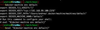 docker-machine env default
